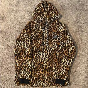 PINK cheetah Sherpa